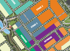 Orleana Waters Masterplan Stages